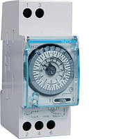 Таймер аналоговий, тижневий, 230В, 16А, 1 перемикаємий контакт, запас ходу 200 год., 2 м