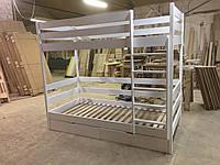 Двухъярусная кровать Каспер из массива бука. В покрытии безцветным лаком на водной основе
