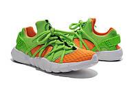Женские кроссовки Nike Air Huarache NM  green-orange, фото 1