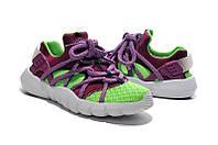 Женские кроссовки Nike Air Huarache NM green-violet, фото 1