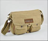 Мужская текстильная сумка Levi's через плечо LEVIS, песочный