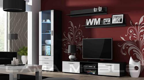 Гостиная Soho 1 Cama черный/белый глянец