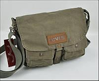 Мужская текстильная сумка Levi's через плечо LEVIS, оливковый