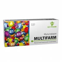 """Мультивитаминный комплекс Мультифарм """"ЕLITE FARM"""" 40 шт."""