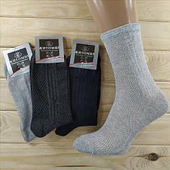 Летние мужские носки сетка Житомир Украина 41-45р  ассорти с серым   НМЛ-06592