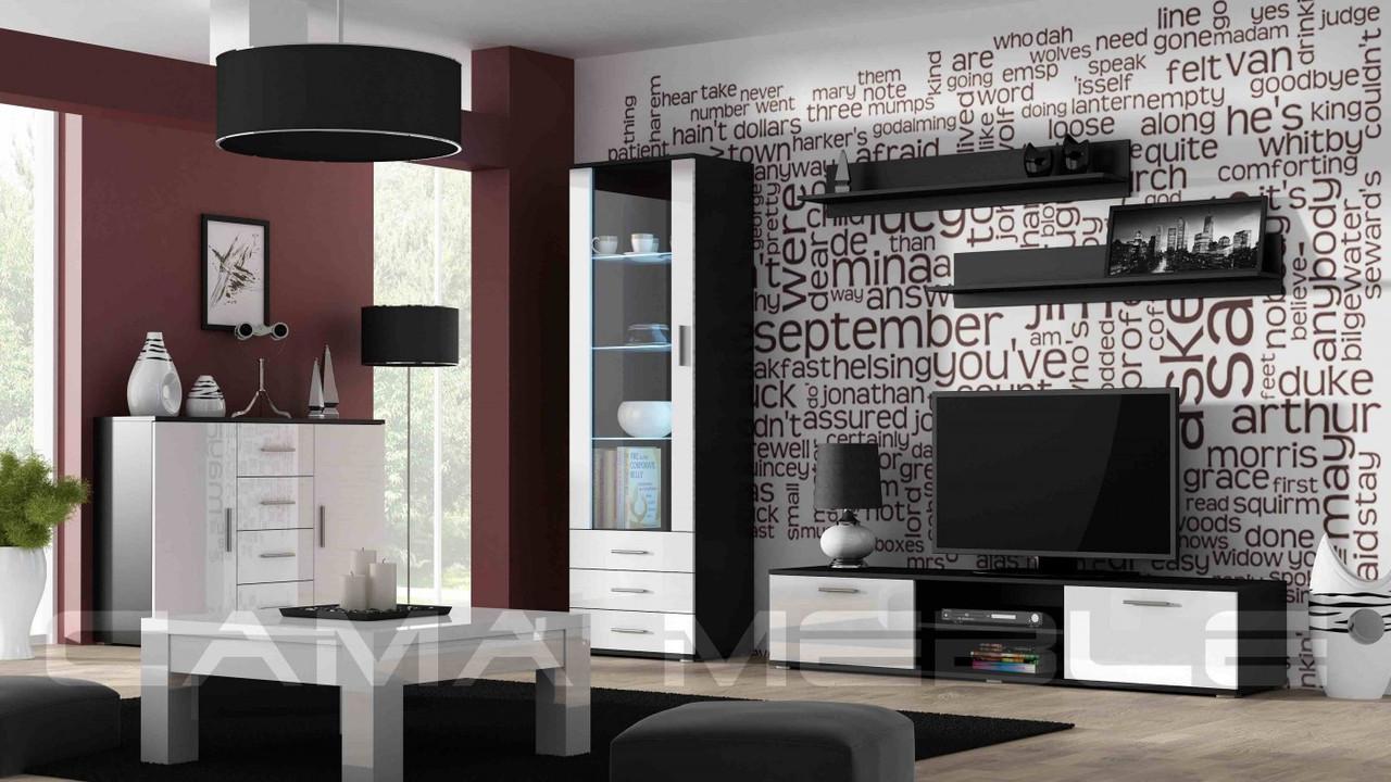 Гостиная Soho 2 Cama черный/белый глянец