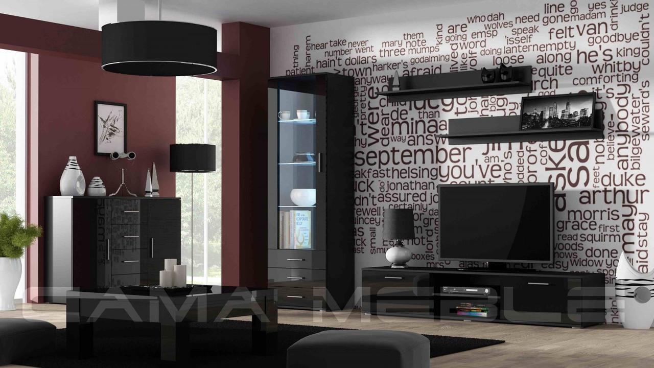 Гостиная Soho 2 Cama черный/черный глянец