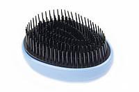 Профессиональная расческа для волос Real Love Tangle Massage Comb голубая