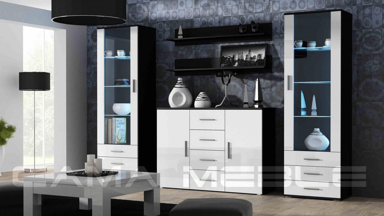Гостиная Soho 3 Cama черный/белый глянец