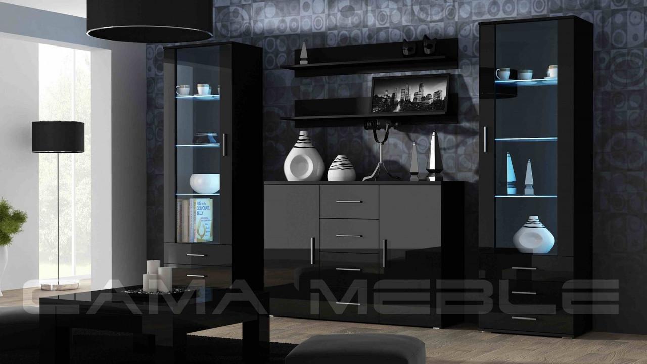 Гостиная Soho 3 Cama черный/черный глянец
