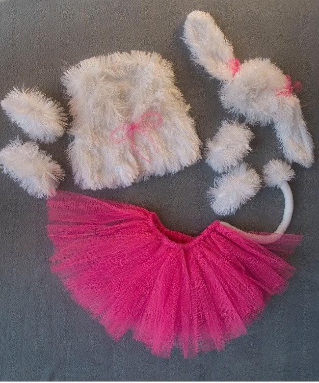 Детский карнавальный костюм Bonita Собачка (девочка) 95 - 110 см Розово - белый