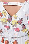/ Размер 52-54, 56-58 / Женское платье отрезное по талии с поясом Ирина цвет небо , фото 3