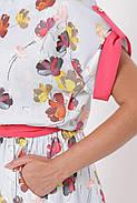 / Размер 52-54, 56-58 / Женское платье отрезное по талии с поясом Ирина цвет небо , фото 6