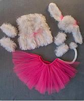 Детский карнавальный костюм Bonita Собачка (девочка) 105 - 120 см Розово - белый, фото 1