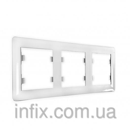 Рамка 3-кратна горизонтальна Lumina-2, біла