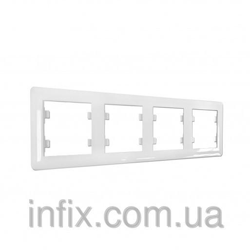 Рамка 4-кратна горизонтальна Lumina-2, біла