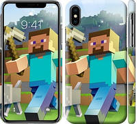 Чехол на iPhone XS Minecraft 4
