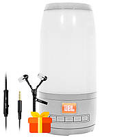 ★Колонка BL JBL Pulse P3 mini Grey бумбокс портативная акустика с светомузыкой Блютуз AUX
