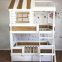 Кровать домик  двухъярусная FeliFam Home