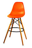 Полубарный стілець Nik Eames, помаранчевий, фото 2
