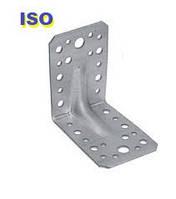 Уголок 105*105*90(2,5) крепежный оцинкованный с ребром жесткости