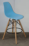 Полубарный стілець Nik Eames, блакитний, фото 3