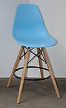 Полубарный стілець Nik Eames, блакитний, фото 2