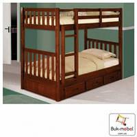 Кровать двухъярусная Жасмин Юниор из массива бука. В белом цвете