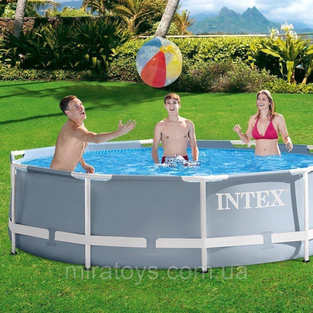 ✅Каркасный бассейн Intex 26702, 305 x 76 см (1 250 л/ч) + насос-фильтр