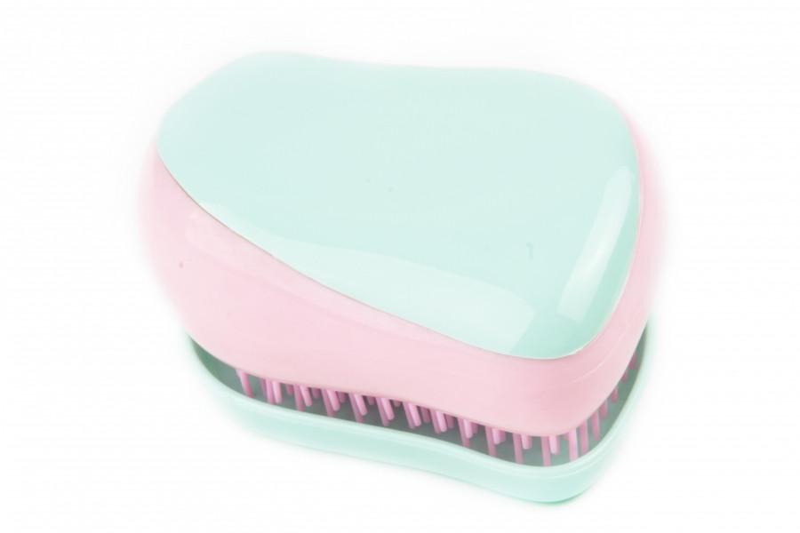 Профессиональная расческа для волос Tangle Compact Styler мятно-розовая