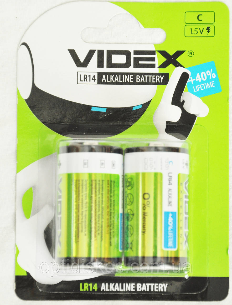 Батарейка Videx LR-14 (С)