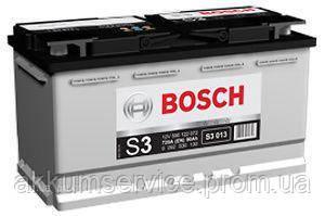 Аккумулятор автомобильный Bosch S3 90AH R+ 720А евро (S3 013)