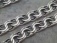 Мужская серебряная цепочка бисмарк. Серебро 925° Есть серебряный крест.