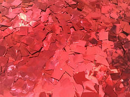 Конфетти квадратики красный. Вес:250гр.