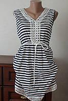 Платье полоска с кружевом на мысик, фото 1
