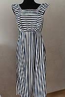 Платье полоска удлиненное, фото 1
