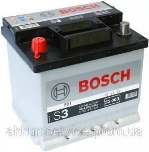 Акумулятор автомобільний Bosch S3 45AH R+ 400А євро (S3 003)
