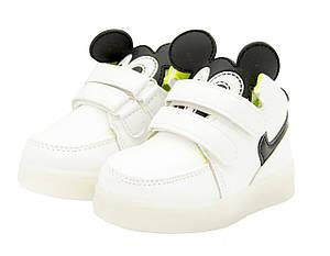 Кроссовки детские светящиеся белые Размеры: 23, фото 2
