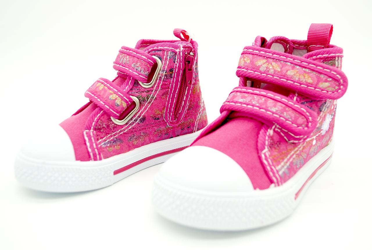 Детские текстильные кеды Clibee для девочек Размеры: 21