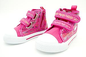 Детские текстильные кеды Clibee для девочек Размеры: 21, фото 2