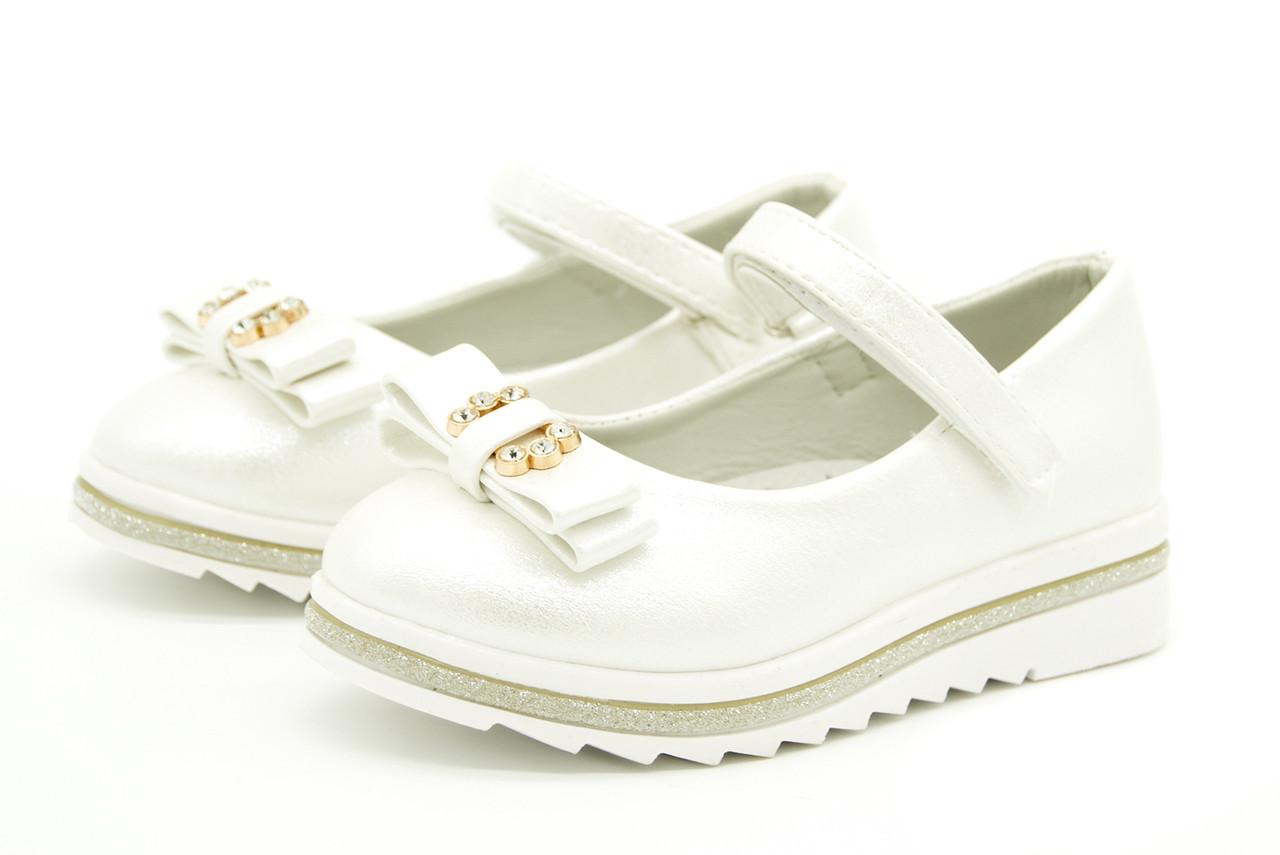 Балетки для девочки белые 29 размер  - 17,5 см