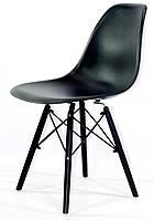 Стул Nik Black черный 04 на черных деревянных ножках, дизайн Charles & Ray Eames DSW