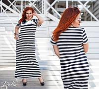 Платье женское длинное летнее легкое большого размера 50-60 Турция, 2 вида
