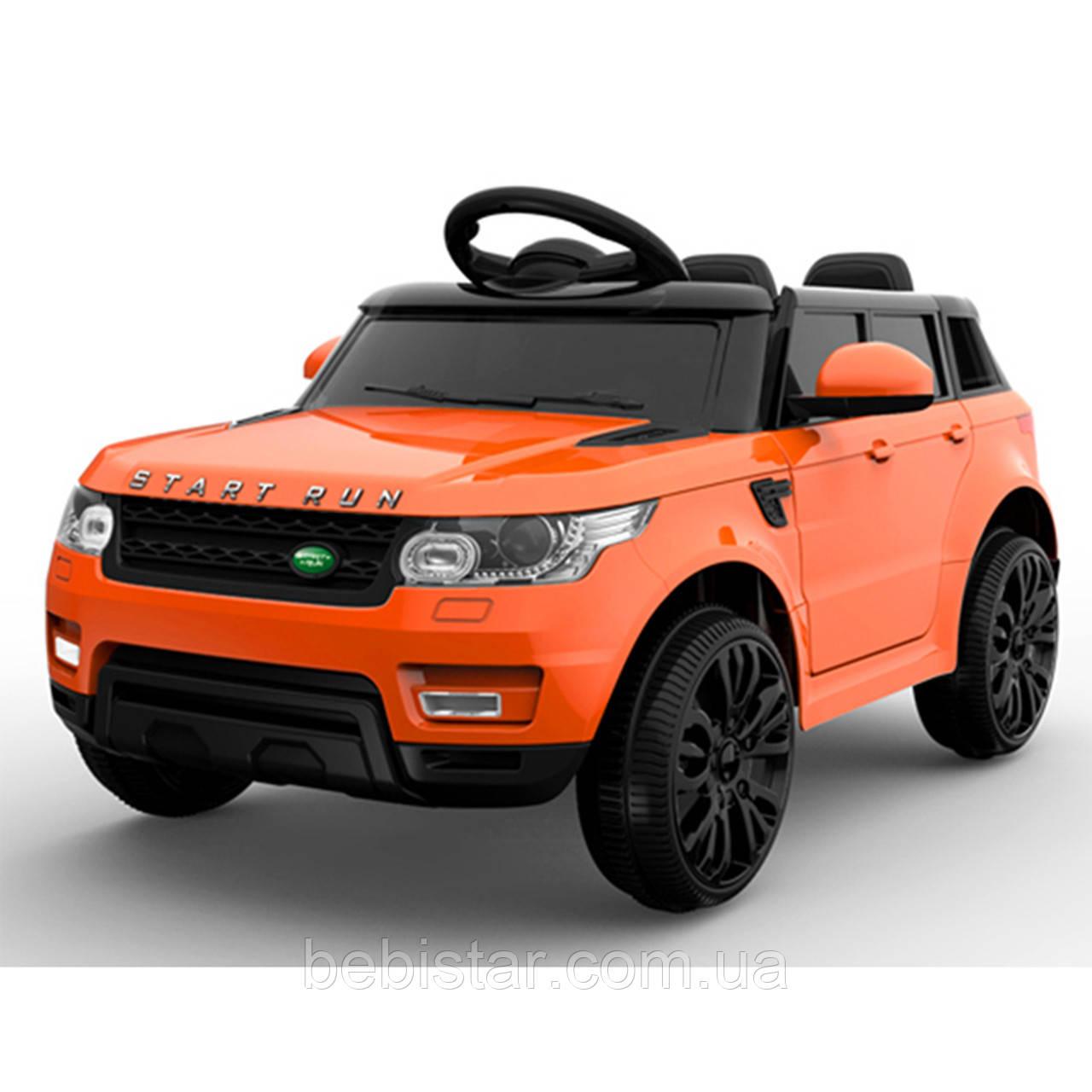 Дитячий електромобіль помаранчевий FL1638 EVA ORANGE діткам 3-8 років з пультом мотор 2*25W