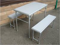 Складной стол с лавочками