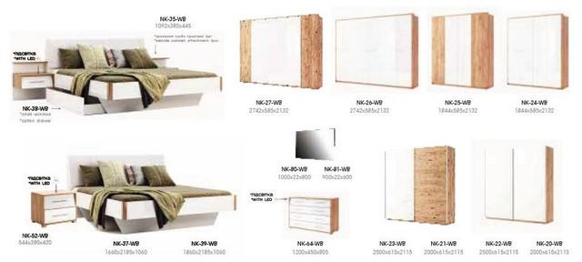 спальня Ники размеры отдельных модулей