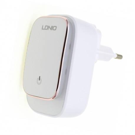 Сетевое зарядное устройство LDNIO A3305 (TouchLight) 3USB/3.4A + Micro, фото 2