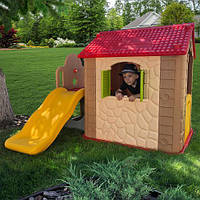 Игровой домик с горкой. Размер 170х154х119 см.M 5399