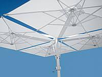 Солнцезащитный зонт с центральной опорой для кафе Galileo Wood 0т 6*6 .Ткань Acrylic gr. 320 m/q Ecru (беж.).