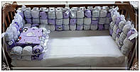 Бортики бом-бон защита в детскую кроватку+постельно бельё.